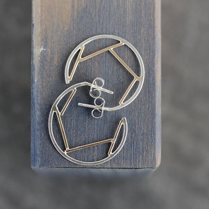 Small Fragment Hoop Earrings