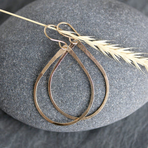 Unique handcrafted teardrop dangle earrings