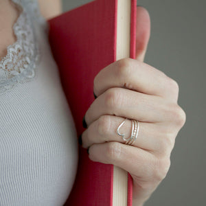 Heart Ring Stack - Stackable Heart Ring By Rebecca Haas Jewelry