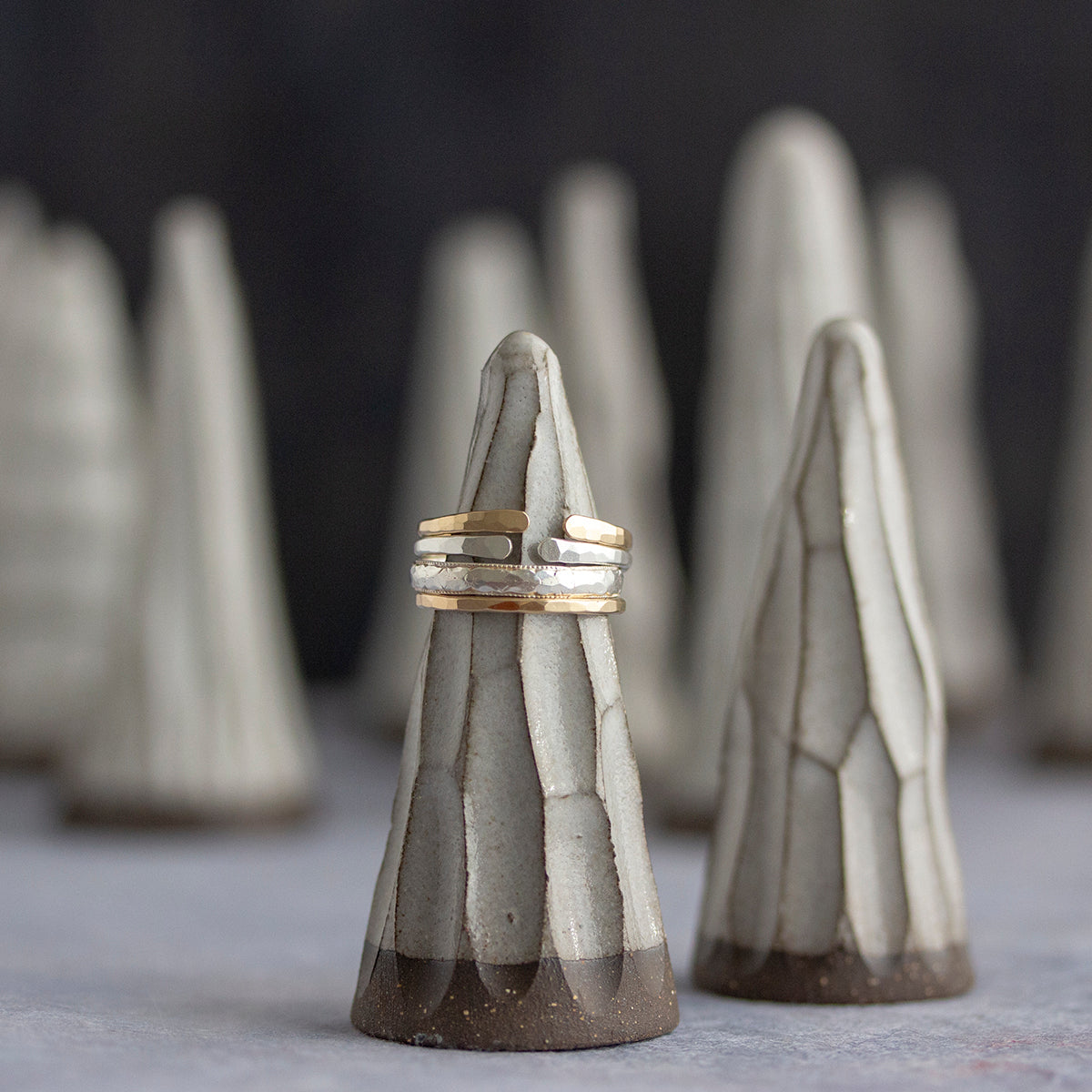 Rebecca Haas Jewelry and Huskmilk Pottery Collaboration