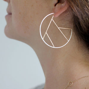 Lines and Shapes Hoop Earrings