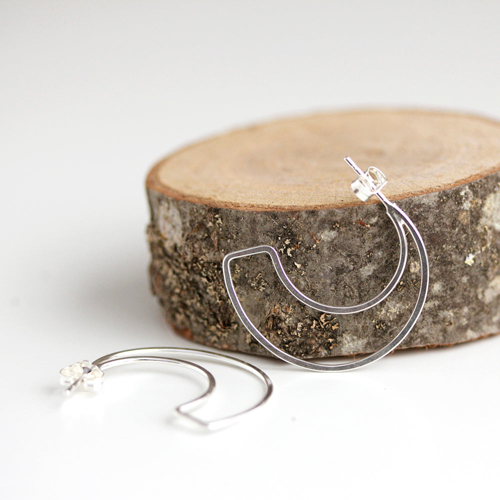 Moon Inspired Post Hoop Earring Design