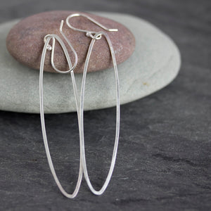 Long oval dangle earrings