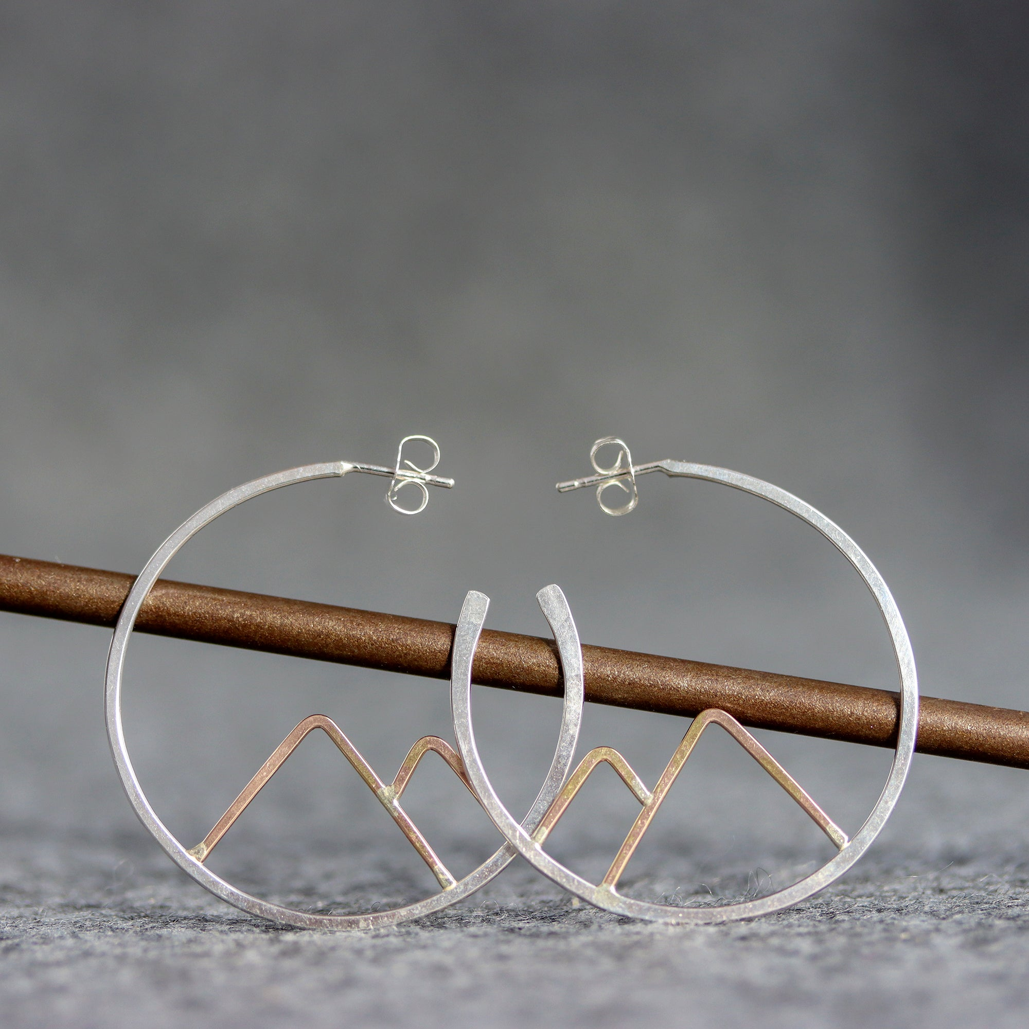Mountain Hoop Earrings
