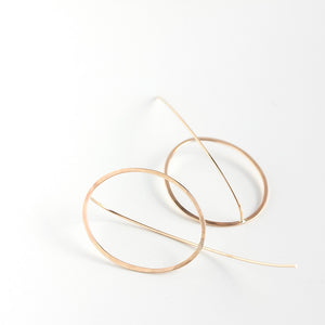 Emma Oval Threader Earrings
