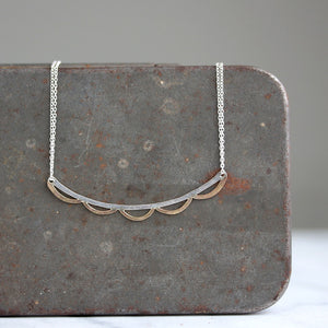Scalloped Bar Necklace