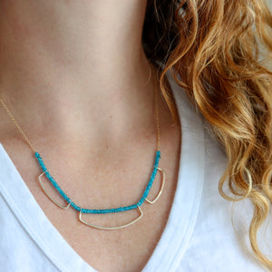 Valkyrie Necklace With Apatite