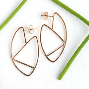 Zigzag Hoop Earrings