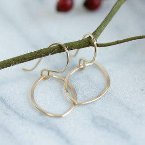 Seer Earrings - Simple Geometric Eye Shape Dangles on French WIres