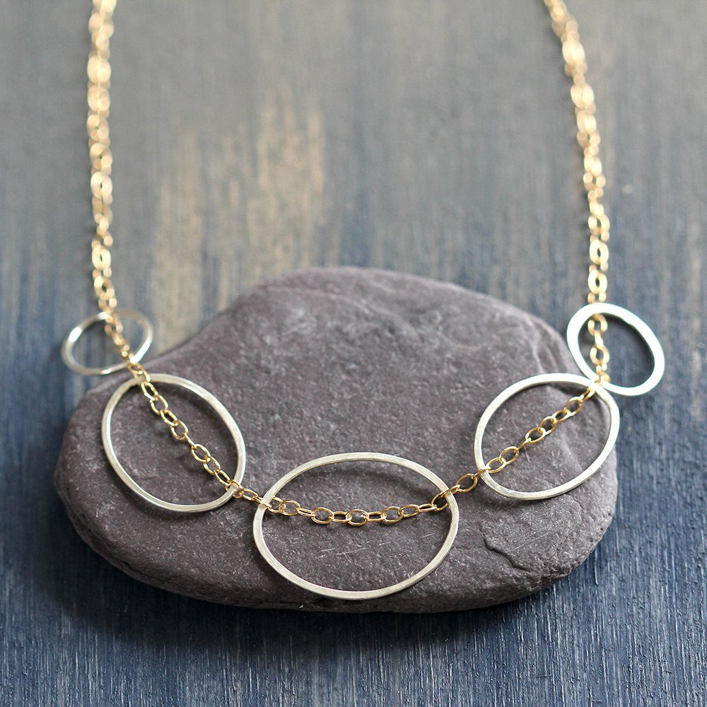 Stone Path Necklace - Intricate yet Simple Geometric Necklace