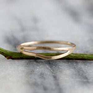 Double Wrap Ring - Simple and Organic Stacking Ring