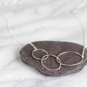 Stream Necklace - Simple Asymmetrical Necklace, Great For Layering