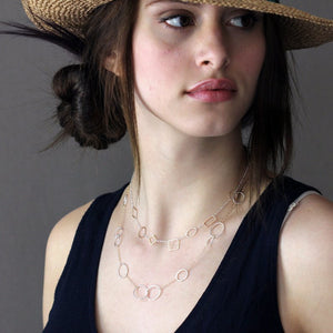 Amelia Necklace in sterling silver | Rebecca Haas Jewelry