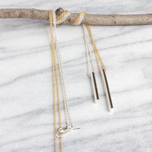 Long Column Necklace - Modern Design that is Versatile and Great For Layering