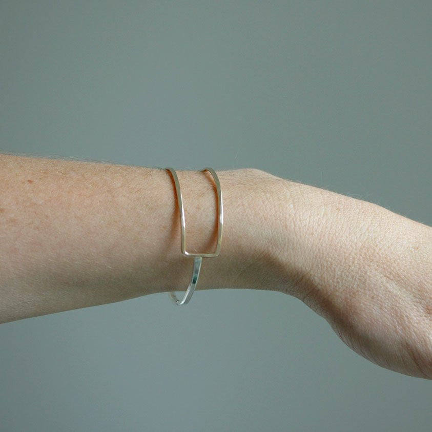 Latitude Cuff - Minimal and Geometric Handmade Bracelet Design