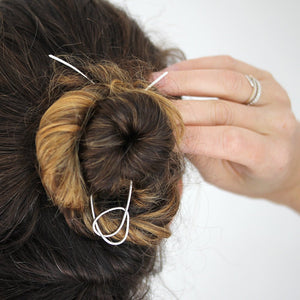 Knot Hair Stick - Handmade Silver or 14k Gold Fill Hair Pin