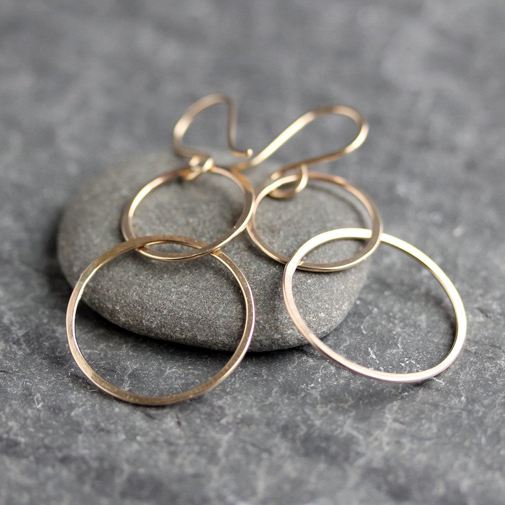 Mima Earrings - Simple Geometric Linked Circle Design