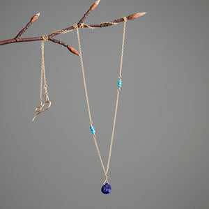 Lapis Lazuli Necklace With Turquoise Details