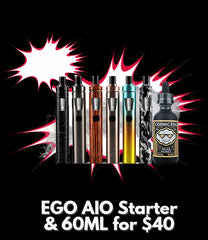 AIO Starter Kit and 1 60ML Bottle for $40