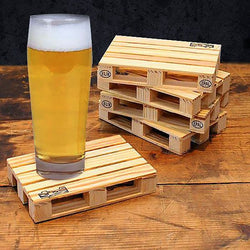 Wooden Pallet Coasters (Set of 4)-Supplies 4 Life