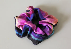 Behind the scenes: designing and making printed silk scrunchies