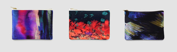 Abstract bags for funky wedding