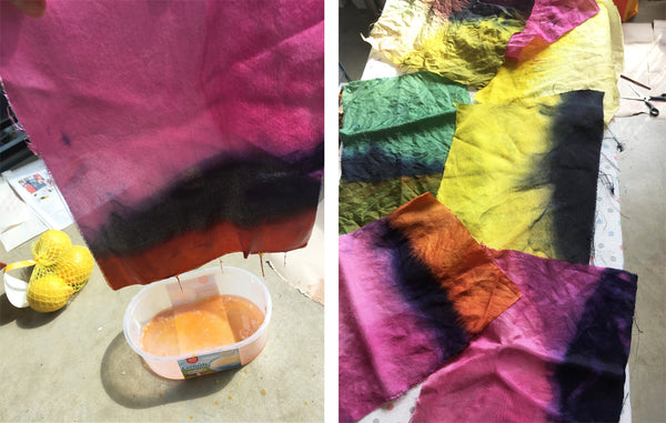 Dip dye with natural dyes