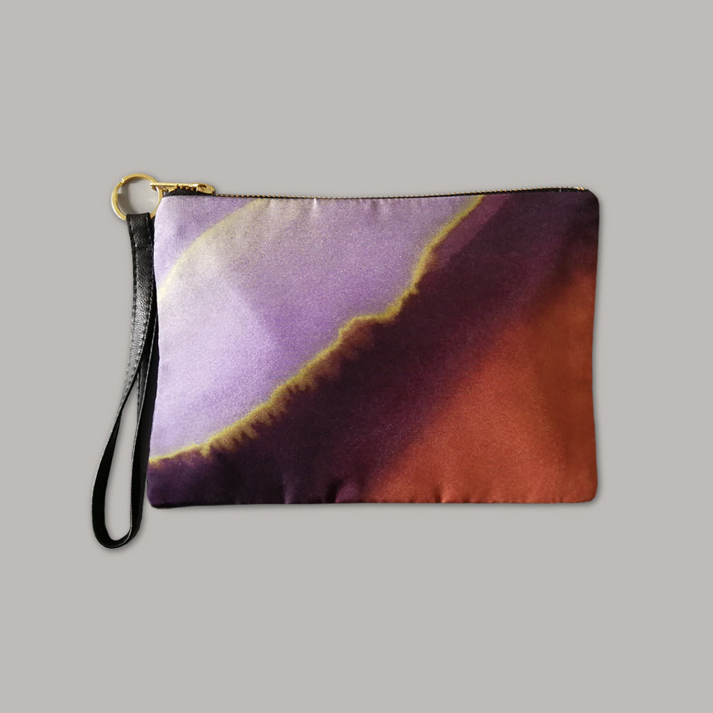 Coast Silk and Leather Wristlet