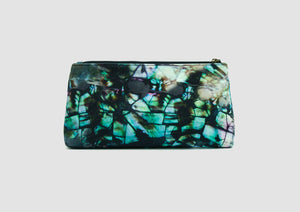 Waterproof bag. Cosmetic and toiletry bag with shell pattern.