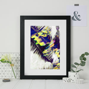 Abstract Tropical Palm Print