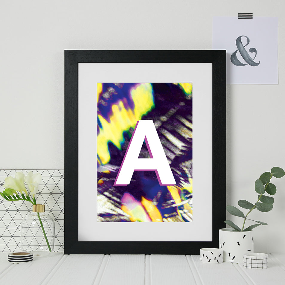 Personalised Initial Abstract Print