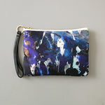 Alvida Silk and Leather Wristlet
