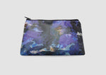 Blue camo printed waterproof cosmetic bag, Samantha Warren