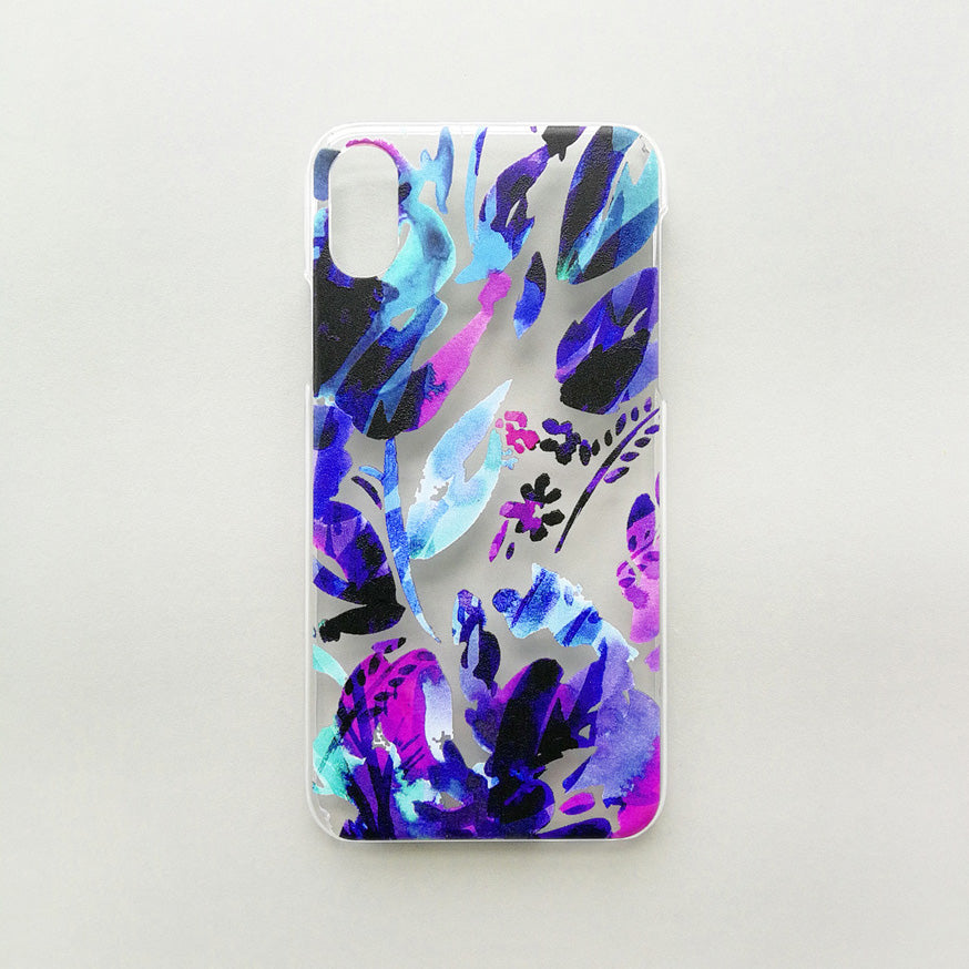 Blue Floral Phone Cover
