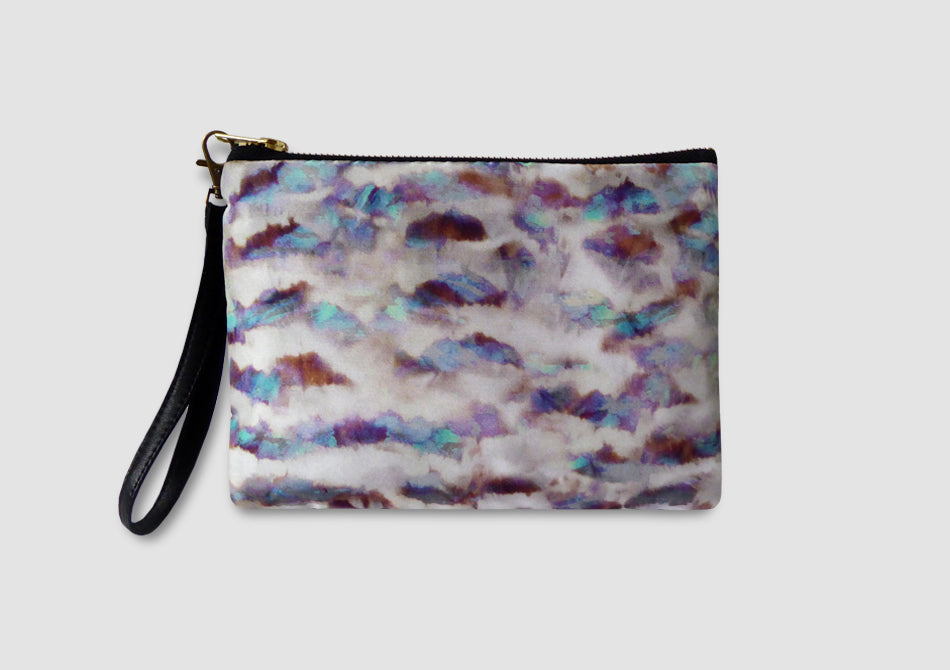 Iridescent feather printed bag, Samantha Warren