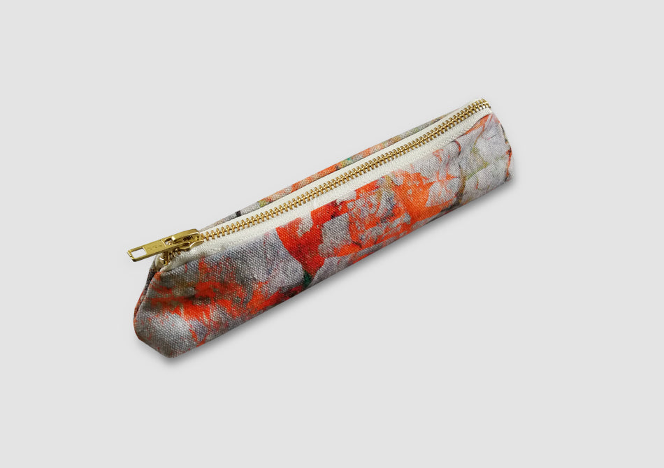 Orange pencil case