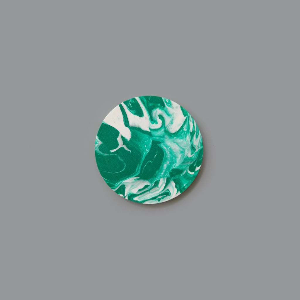 Coaster - Green Marble