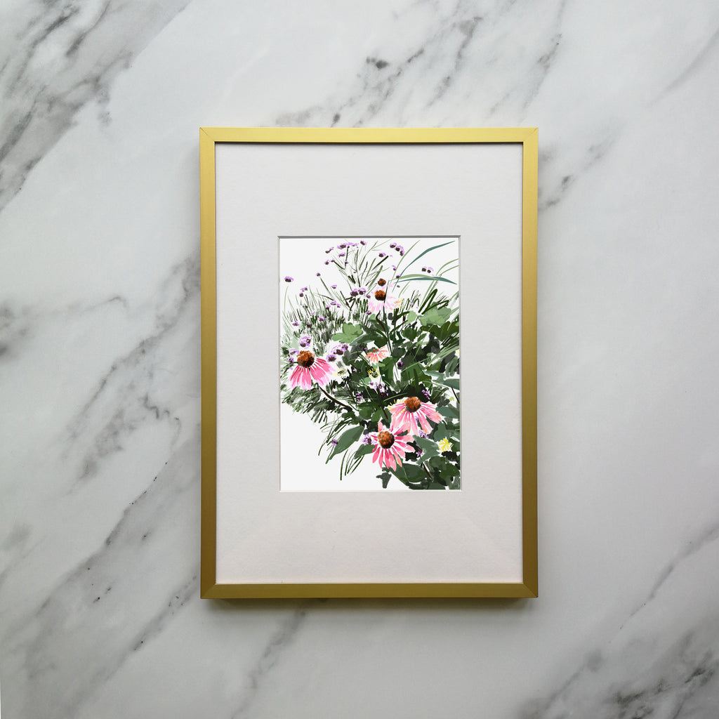 Coneflowers Framed Print