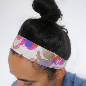 Silk Face Mask and Headband Set - Tropical