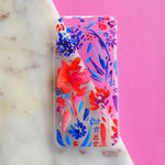Red and Blue Floral Phone Case