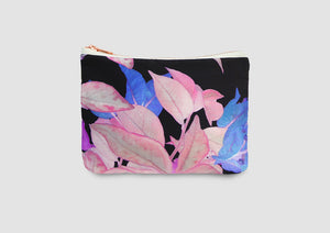 Pink floral bag. Striking leaf print bag