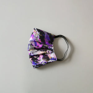 Silk Face Mask - Purple Abstract