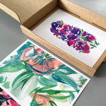 Set of mini floral prints