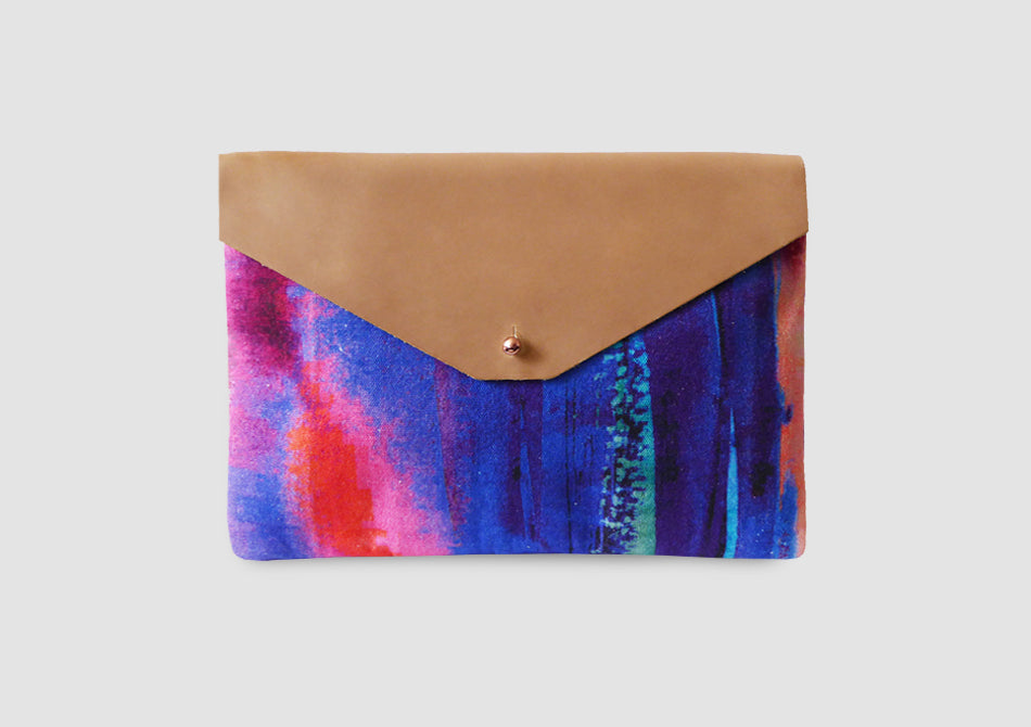 Freyja Leather Envelope Clutch Bag