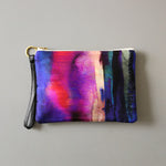 Freyja Silk and Leather Wristlet