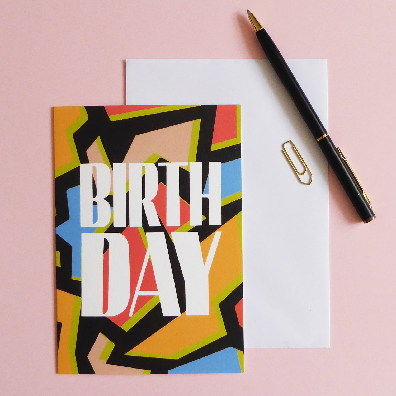 Retro Happy Birthday Card - Samantha Warren