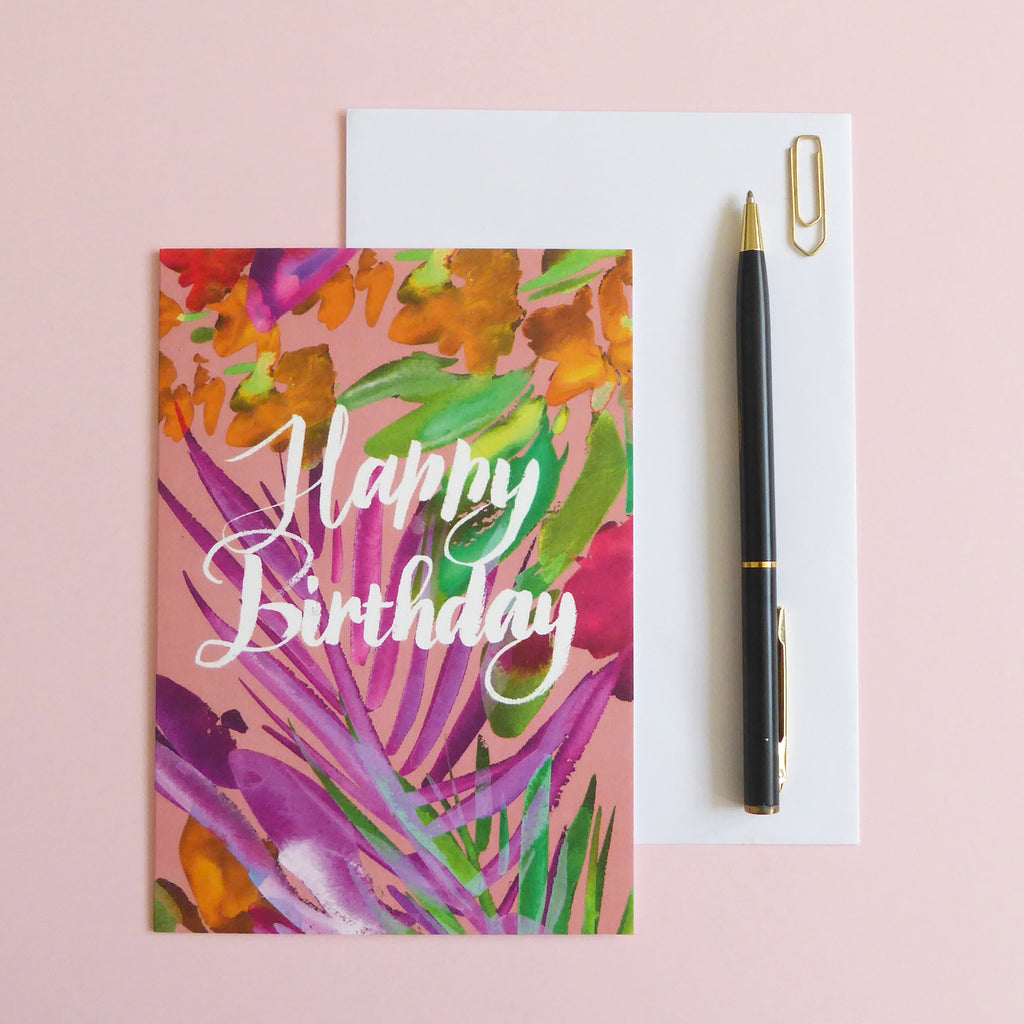 Tropical Happy Birthday Card