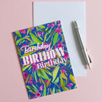 Blossom Happy Birthday Card - Samantha Warren