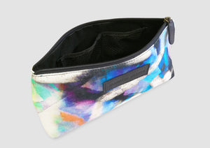 Bold abstract art printed waterproof bag. Samantha Warren