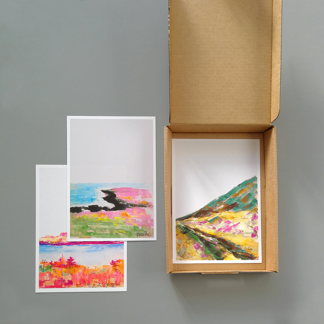 Set of mini landscape prints